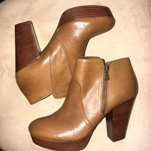 Gianni Bini Leather Zippered Boots
